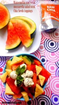 Watermelon And Fresh Mozzarella Salad - Plattershare - Recipes, Food Stories And Food Enthusiasts