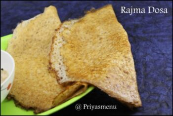 Rajma Dosa - Plattershare - Recipes, Food Stories And Food Enthusiasts