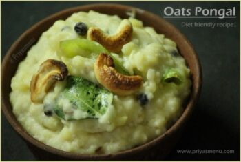 Oats Pongal - Plattershare - Recipes, Food Stories And Food Enthusiasts