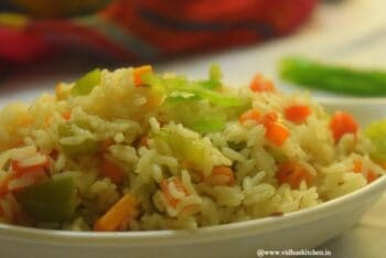 No Onion No Garlic Vegetable Pulao - Plattershare - Recipes, Food Stories And Food Enthusiasts