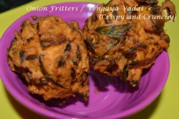 Onion Fritters / Vengaya Vadai - Plattershare - Recipes, Food Stories And Food Enthusiasts