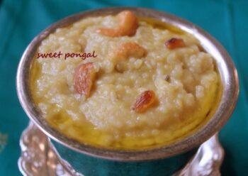 Sweet Pongal Or Sakkarai Pongal Recipe - Plattershare - Recipes, Food Stories And Food Enthusiasts