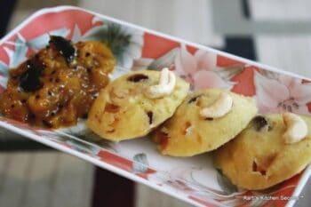 Sweet Mango Semolina Idli With Mango Sauce - Plattershare - Recipes, Food Stories And Food Enthusiasts