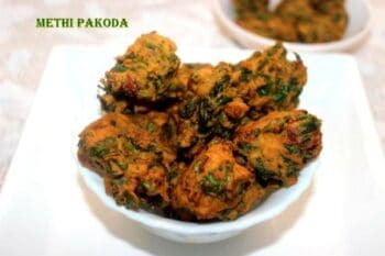 Methi (Spinach) Pakoda Or Pakora Or Methi Fritters Recipe - Plattershare - Recipes, Food Stories And Food Enthusiasts