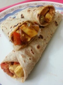 Tofu And Bell Pepper Kathi Roll - Plattershare - Recipes, Food Stories And Food Enthusiasts