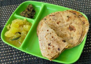 Raw Banana Paratha (Vazhaikai Stuffed Paratha) - Plattershare - Recipes, Food Stories And Food Enthusiasts