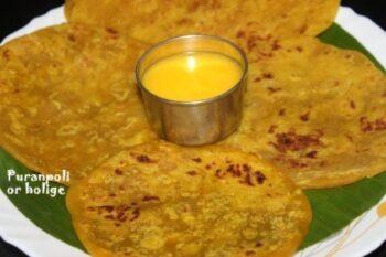 Puranpoli Or Holige Or Obbattu Or Bobbattu Recipe - Plattershare - Recipes, Food Stories And Food Enthusiasts