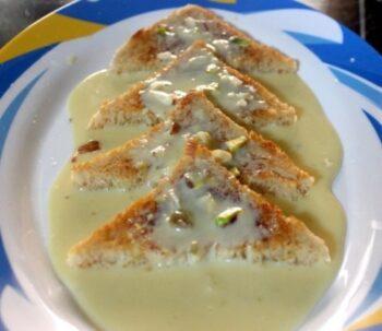 Quick Shahi Tukda Or Tukra Recipe Or Indian Bread Pudding Recipe - Plattershare - Recipes, Food Stories And Food Enthusiasts