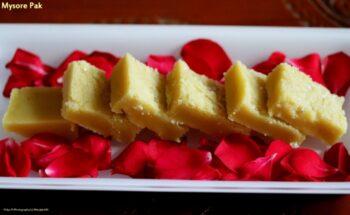 Mysore Pak (Shree Krishna Sweets Style Mysore Pak) - Plattershare - Recipes, Food Stories And Food Enthusiasts