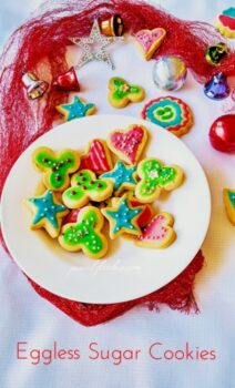 Eggless Christmas Cookies With Royal Icing / Sugar Cookies - Plattershare - Recipes, Food Stories And Food Enthusiasts