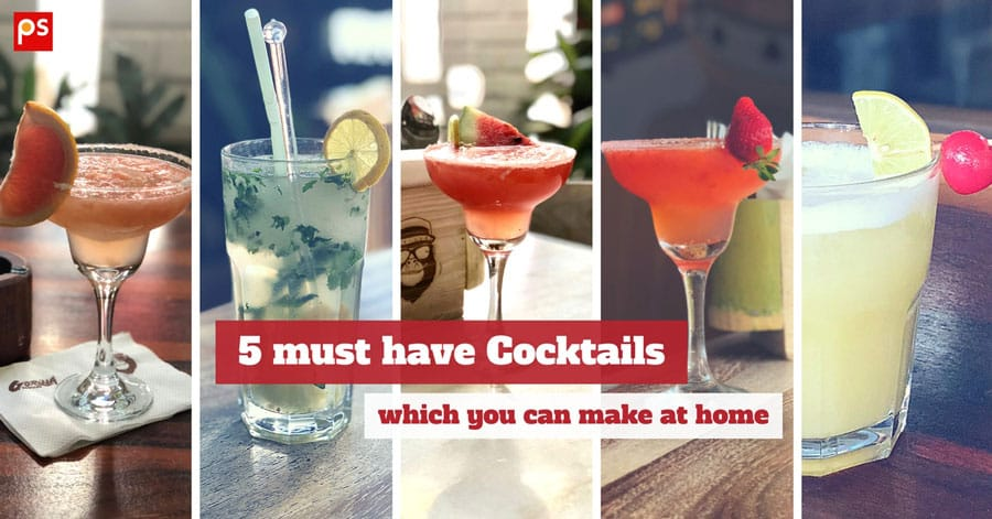 5 Must Have Cocktails Which You Can Make At Home - Muddled, Shaken Or Stirred - Plattershare - Recipes, Food Stories And Food Enthusiasts