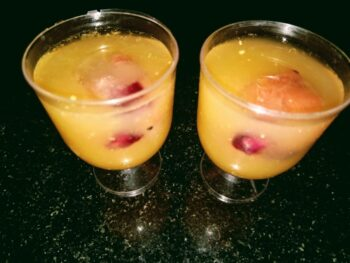 Orange Shots With Fruits Infusers - Plattershare - Recipes, Food Stories And Food Enthusiasts