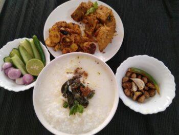 Dahi Pakhala,Aloo Besara Bhaja,Badi Bhaja, Pansha Masala Bhaja, Salad - Plattershare - Recipes, Food Stories And Food Enthusiasts