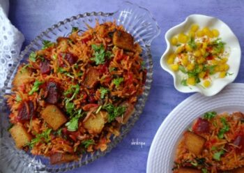 Red Amaranth And Beet Pulav: - Plattershare - Recipes, Food Stories And Food Enthusiasts