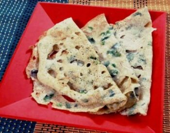 Onion Wheat Rava Dosa - Plattershare - Recipes, Food Stories And Food Enthusiasts
