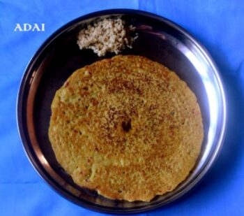 Adai Or Mixed Lentils Dosa Recipe - Plattershare - Recipes, Food Stories And Food Enthusiasts