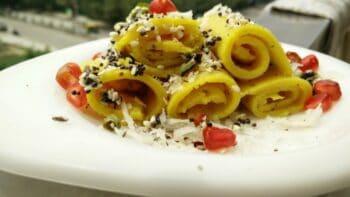 Khandvi Recipe (Indian Gujarati Snack) - Plattershare - Recipes, Food Stories And Food Enthusiasts