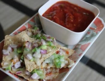 Nachos With Salsa Sauce - Plattershare - Recipes, Food Stories And Food Enthusiasts