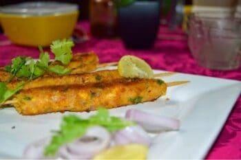 Corn Seekh Kebab (Corn Kebab) - Plattershare - Recipes, Food Stories And Food Enthusiasts