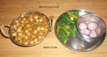 Methi Chole - Plattershare - Recipes, Food Stories And Food Enthusiasts