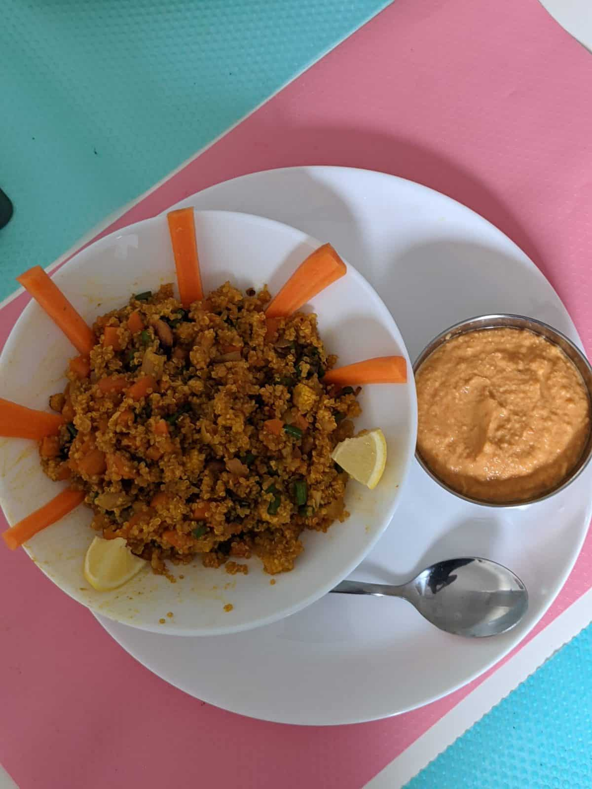 Quinoa Bowl( Baby Corn, Carrot, Beans, Tomato Puree And Cashew Nuts) - Plattershare - Recipes, Food Stories And Food Enthusiasts